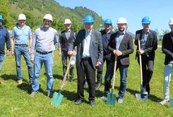 Groundbreaking-ceremony for start of construction